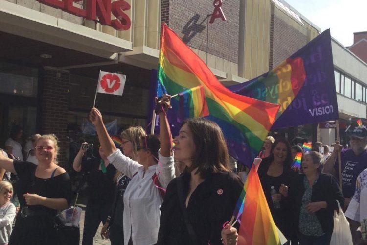 Vänsterpartiet i Ängelholm deltog i mångfaldsparaden