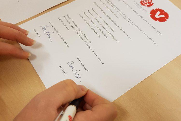 Vänsterpartiet och Socialdemokraterna i Ängelholm ingår ett valtekniskt sammarbete